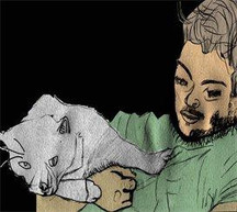 self-portrait with cat