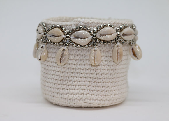 Macrame & Shell Basket