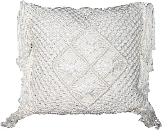 Cocoa Macramé Gaab Cushion