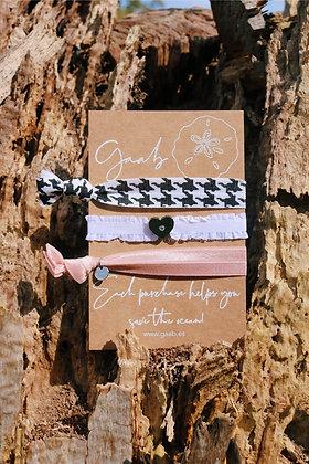Pink Paris Gaab Bracelet & Hairband Set