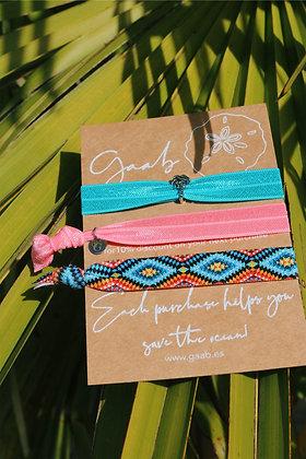 Surf Gaab Bracelet & Hairband Set