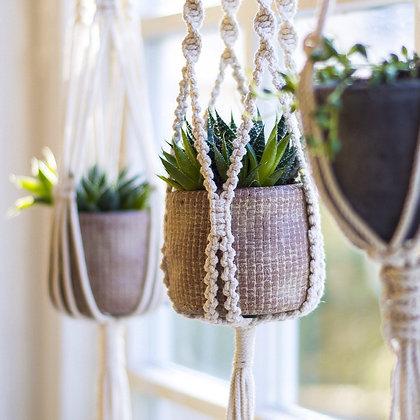 Macrame Hang Loose Plant Holders