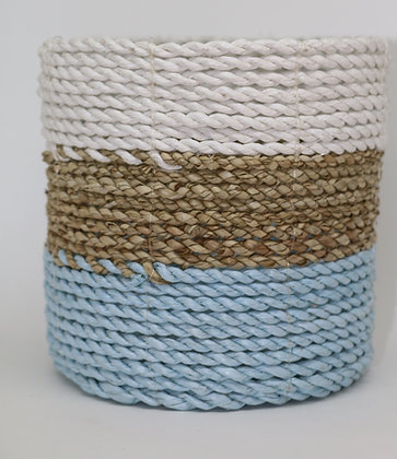 Light Blue & White Basket