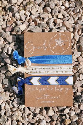 Azul Marino Gaab Bracelet & Hair Band Set