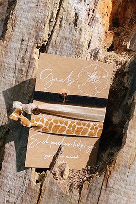 Sandy Giraffe Bracelet & Hairband Set