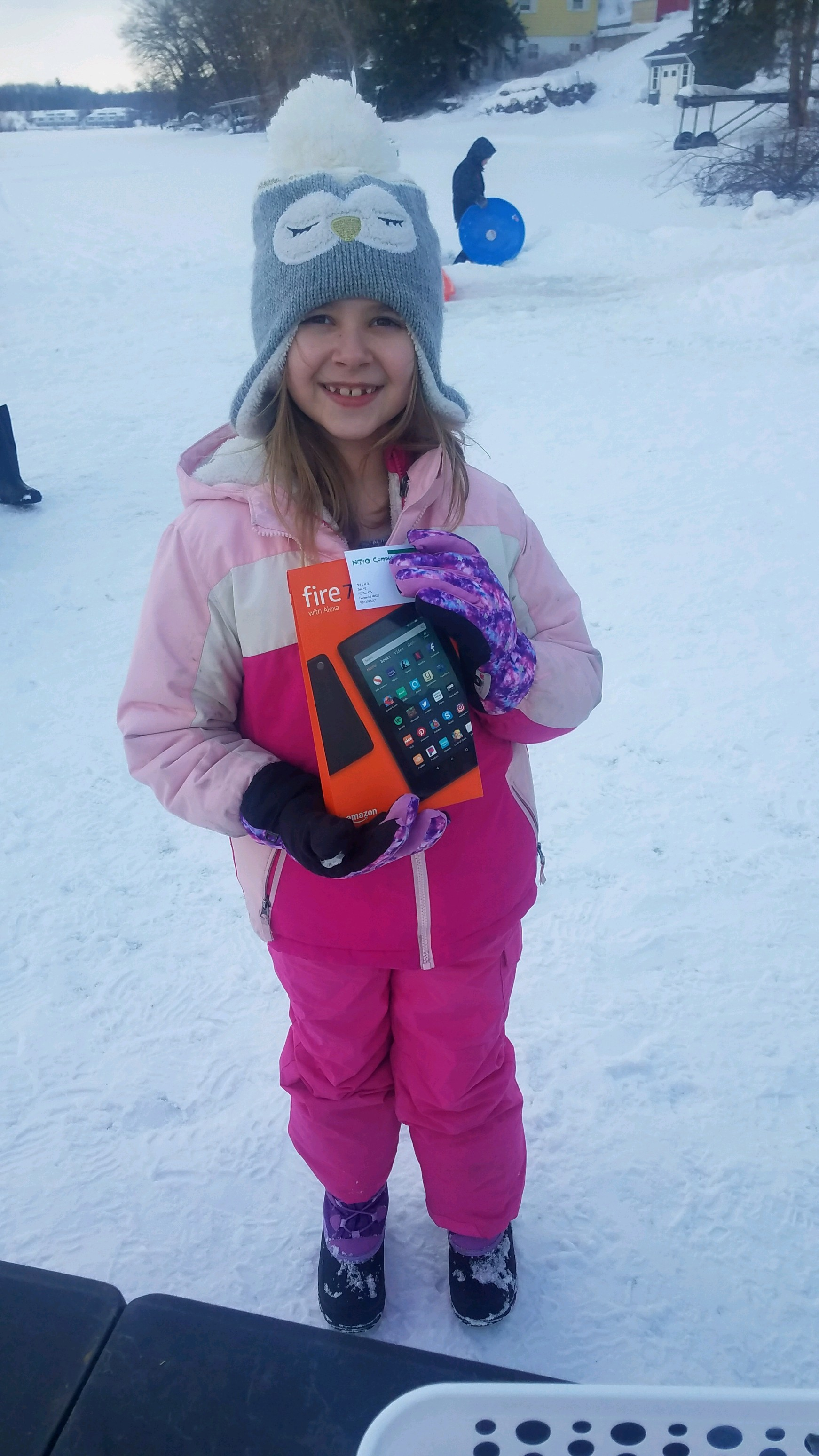 Winter Fun Day Tablet Winner Danika Nobl