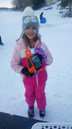 Winter Fun Day Tablet Winner Danika Nobl