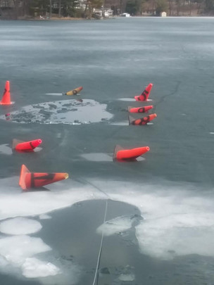 Budd Lake Meltdown- fell thoujgh ice mar