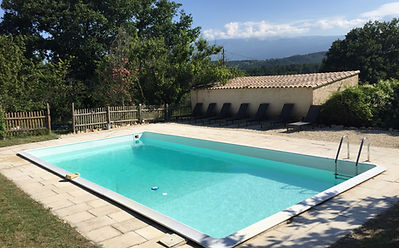 ventoux cyclists swimming pool