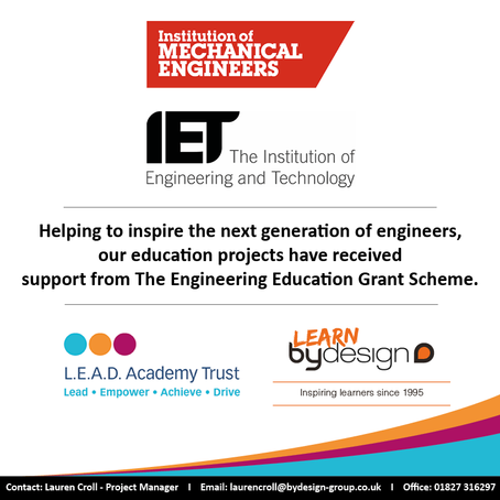 Learn by Design celebrates grant from Engineering Institutions