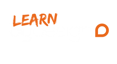 Learn by Design Logo orange and white.pn