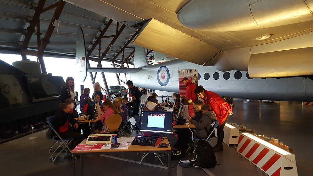 FUZE Coding Workshop at RAF Cosford - Heroes in STEM event 2015