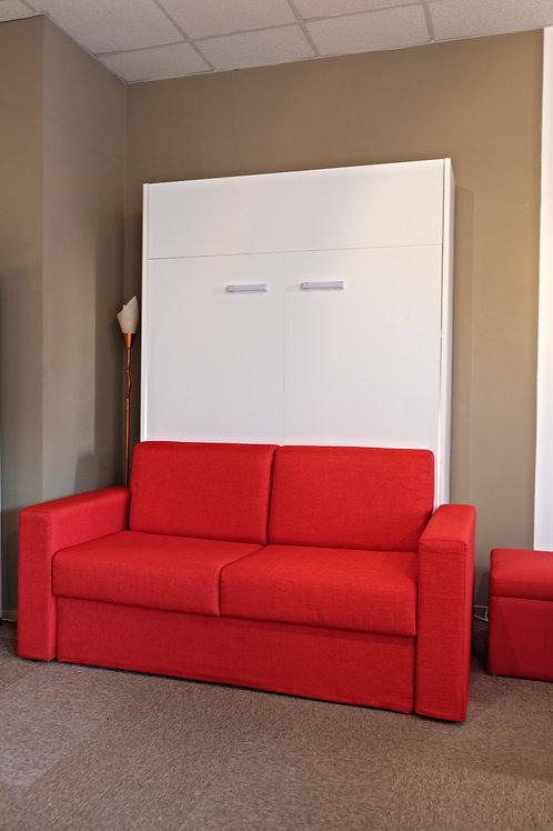 Lit escamatotable BLANC 160 cm avec canapé