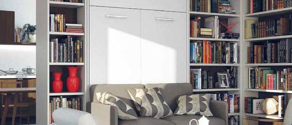 Lit escamotable NOVA vertical avec canapé couchage 140*200 cm