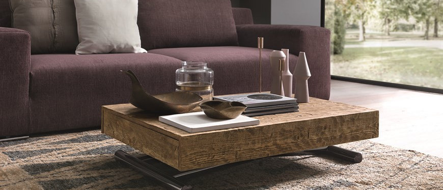 Table basse relevable extensible COMPACT