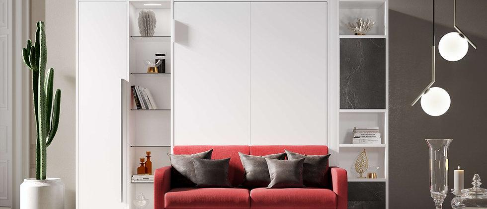 Lit escamotable CASANOVA vertical avec canapé couchage 140*200 cm