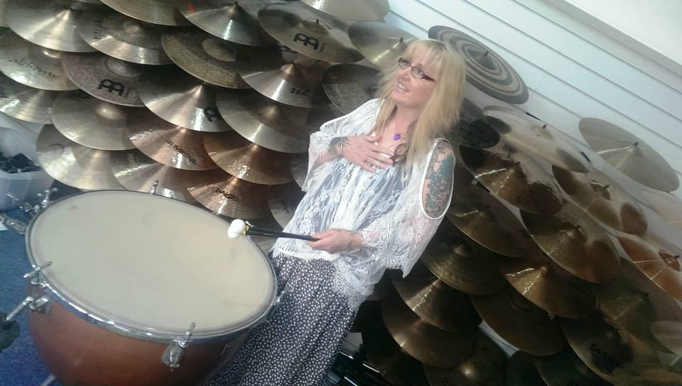 Rachel Patterson drumming