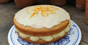 Orange sponge cake (vegan)