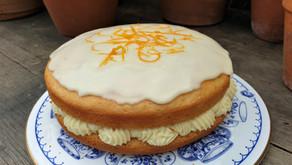 Orange sponge cake (vegan)