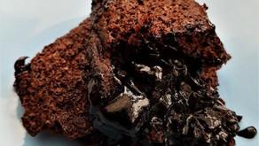 Chocolate puddle pudding (vegan option)