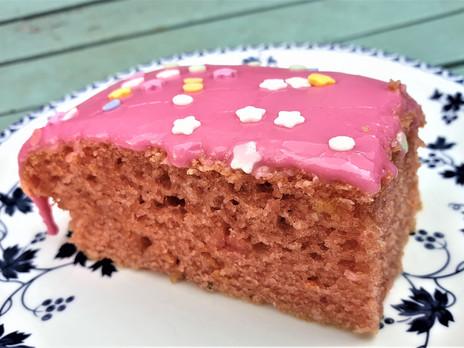 Pink Sprinkles Vanilla Sheet Cake (Vegan)