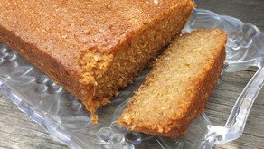 Coconut and lime drizzle cake (vegan & gluten free option)