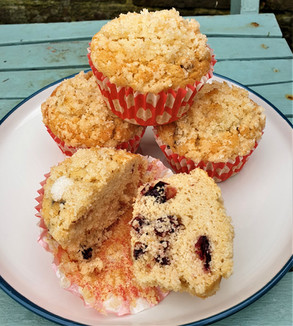Cranberry rice flour muffins