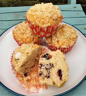 Cranberry rice flour muffins