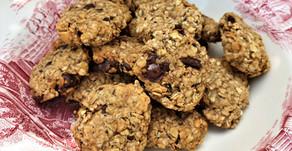 Peanut butter banana oatmeal cookies (vegan/GF)