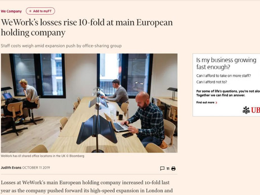 WeWork's losses accelerating in Europe