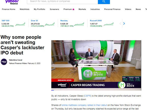 The Casper IPO success