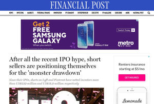 Short Interest Growing on Recent Tech IPOs