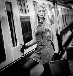 hannah railway bw