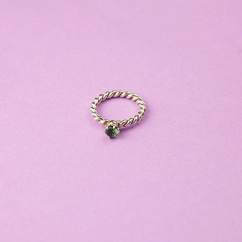 """Витое кольцо """"Принцесса"""" (наноситал)"""