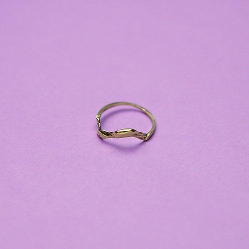 """Кольцо """"Волна"""" (золото)"""