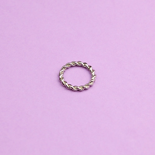 Витое кольцо на фалангу (сталь)