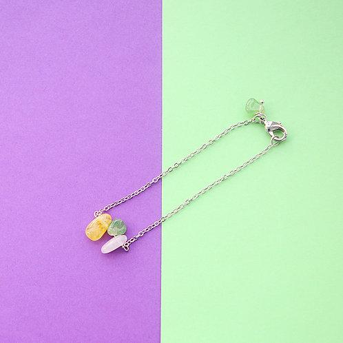 Браслет-леденец (три цвета + жадеит)