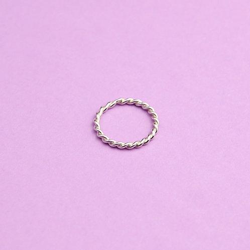 Витое кольцо (серебро)