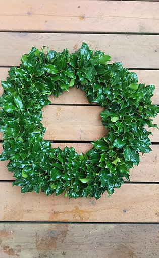 Full Green Holly Wreath