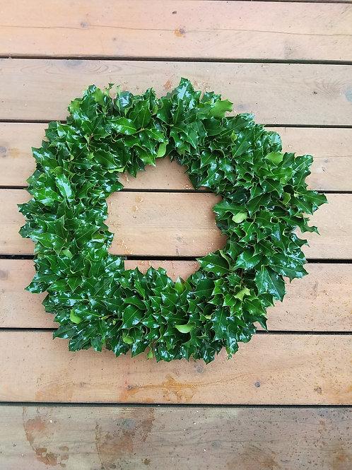 Full Green Holly Wreath