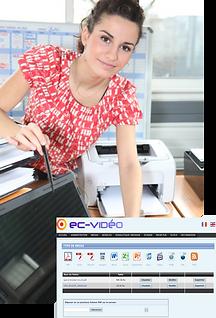 L'interface utilisateur et administrateur EC-Video