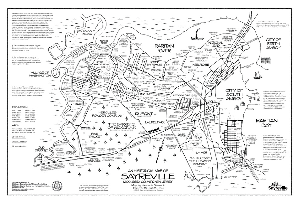 historical map of sayreville
