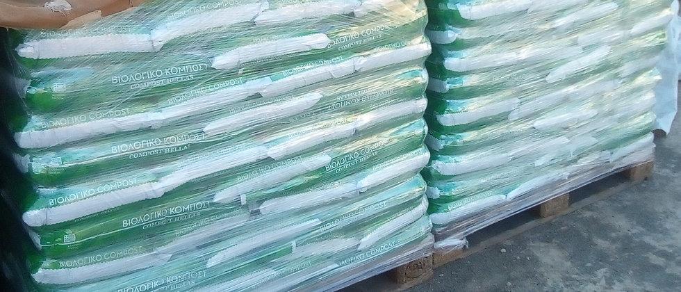Posidonia sea grass organic compost 40lt (palet 60 pieces, 20kg/piece)