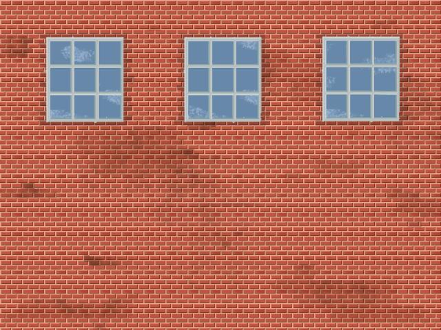 pixel art brick wall