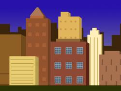 pixel art cityscape 3