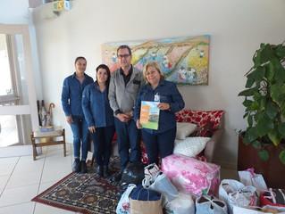 Texian faz entrega de doações na Casa de Amparo