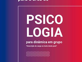 Venha fazer parte da nossa equipe: Psicologia - com superior completo