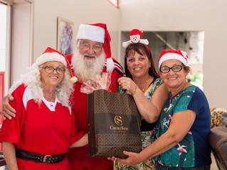 Visita do Papai e Mamãe Noel