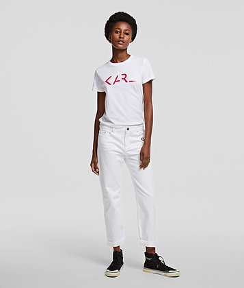 KARL LEGEND LOGO T-SHIRT WHITE
