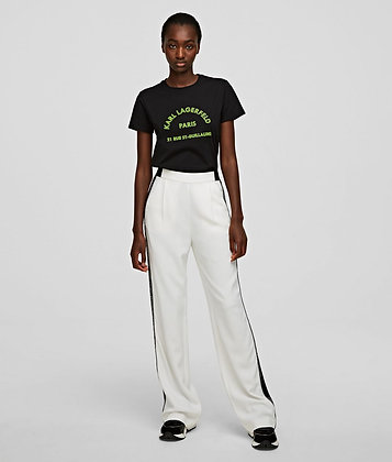 CADY TROUSERS WITH LOGO TAPE